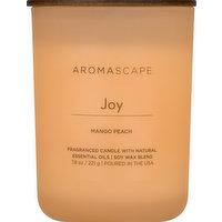 Aromascape Candle, Mango Peach, Joy, 1 Each