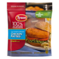 Tyson Chicken Patties, Fully Cooked & Breaded, 26 Ounce