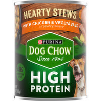 Dog Chow Dog Food, High Protein, Hearty Stews with Chicken & Vegetables, 13 Ounce