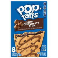 Pop Tarts Toaster Pastries, Frosted, Chocolate Chip, 8 Each