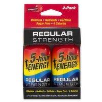 5-Hour Energy Regular Strength 2 Pack, 3.86 Fluid ounce
