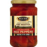 Alessi Red Peppers, Italian Style, 12 Ounce