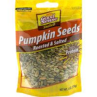 Good Sense Pumpkin Seeds, Roasted & Salted, Shelled, 6 Ounce