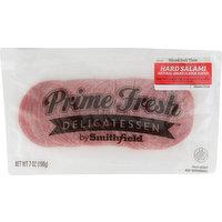 Smithfield Hard Salami, Sliced Deli Thin, 7 Ounce