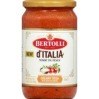 Bertolli Sauce, Creamy Rosa, D'Italia, 24.7 Ounce