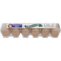 EGGLANDS BEST Eggs, Organic, Large Brown, 12 Each