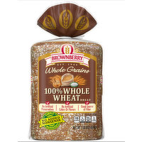 Brownberry 100% Whole Grain Whole Wheat Bread, 24 Ounce