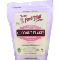 Bobs Red Mill Coconut Flakes, Unsweetened, Unsufured, 10 Ounce