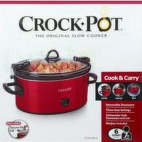 Crock Pot Slow Cooker, Oval, Original, 6 Quart, 1 Each