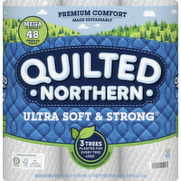 Quilted Northern Bathroom Tissue, Mega Rolls, 2-Ply, 12 Each
