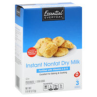 Essential Everyday Dry Milk, Nonfat, Instant, 9.6 Ounce