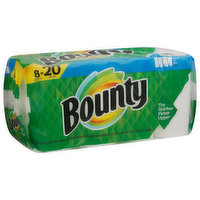 Bounty Paper Towels, Select-A-Size, White, Double Rolls, 2-Ply, 8 Each
