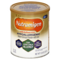 Nutramigen Infant Formula, Powder, with Iron, Hypoallergenic, 0-12 Months, 12.6 Ounce