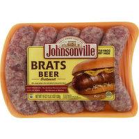 Johnsonville Bratwurst, Beer, Brats, 19 Ounce