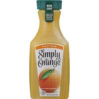 Simply Orange Juice, Orange, Pulp Free, 52 Ounce