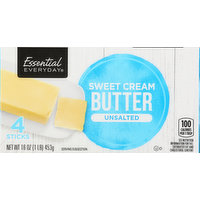 Essential Everyday Butter, Sweet Cream, Unsalted, 4 Each