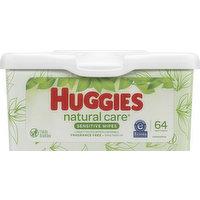 Huggies Wipes, Sensitive, 64 Each