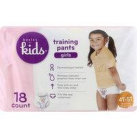 Basics For Kids Training Pants, 4T-5T (38 lb & Over), Girls, 18 Each