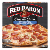 Red Baron Pizza, Classic Crust, Pepperoni, 20.6 Ounce