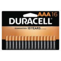 Duracell Batteries, Alkaline, AAA, 16 Pack, 16 Each