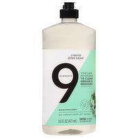 9 Elements Dish Soap, Liquid, Eucalyptus Scent, 16 Fluid ounce