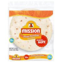 Mission Flour Tortillas, Soft Taco, Super Soft, 20 Each