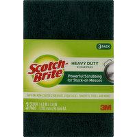 Scotch Brite Scour Pads, Heavy Duty, 3 Pack, 3 Each