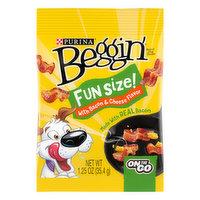 Beggin Dog Treats, Bacon & Cheese Flavor, Fun Size, 1.25 Ounce