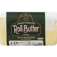 Amish Country Butter, Salted, Roll, 32 Ounce