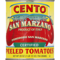 Cento Tomatoes, with Basil Leaf, San Marzano, Peeled, 28 Ounce