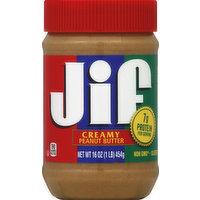 Jif Peanut Butter, Creamy, 16 Ounce