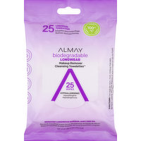 Almay Cleansing Towelettes, Makeup Remover, Longwear, 25 Each