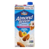 Almond Breeze Almondmilk, Dairy-Free, Vanilla, Unsweetened, 32 Ounce