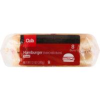 Cub Hamburger Buns, Enriched, Sliced, 8 Each