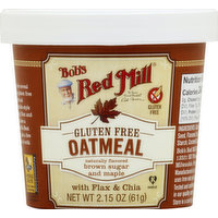 Bob's Red Mill Oatmeal, Gluten Free, Brown Sugar and Maple, 2.15 Ounce