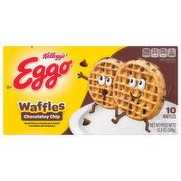 Eggo Waffles, Chocolatey Chip, 10 Each