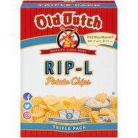Old Dutch Rip-L Potato Chips Triple Pack, 15 Ounce