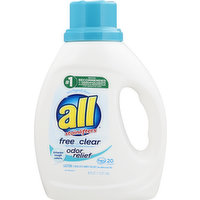 all Detergent, with Stainlifters, Free Clear, 36 Ounce