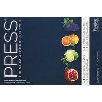 Press Alcohol Seltzer, Premium, Variety Pack, 12 Pack, 12 Each