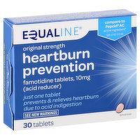 Equaline Heartburn Prevention, Original Strength, Tablets, 30 Each