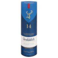 Glenfiddich Scotch Whisky, Single Malt, 14, 750 Millilitre