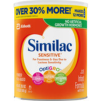 Similac Infant Formula, with Iron, Milk-Based Powder, 29.8 Ounce