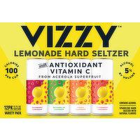 Vizzy Hard Seltzer, Lemonade, Variety Pack, 12 Pack, 12 Each