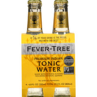 Fever Tree Tonic Water, Premium Indian, 4 Each