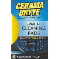 Cerama Bryte Cleaning Pads, Cooktop, 5 Each