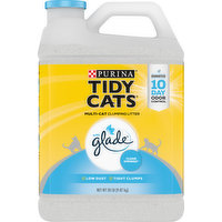 Tidy Cats Clumping Litter, Multi-Cat, with Glade, Clear Springs, 20 Pound