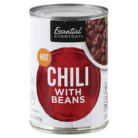Essential Everyday Chili with Beans, Hot, 15 Ounce