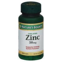 Nature's Bounty Zinc, Chelated, 50 mg, Caplets, 100 Each