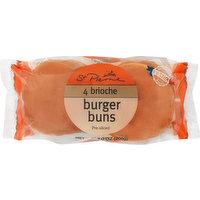 St Pierre Burger Buns, Brioche, 4 Each