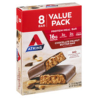 Atkins Protein Meal Bar, Chocolate Peanut Butter, Value Pack, 8 Each